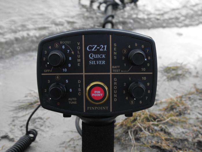 Fisher CZ-21 met 26,5cm / 10,5″ zoekschijf