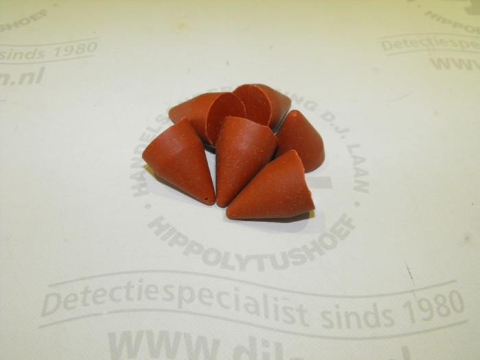 Polyester schuurkegels (500 gram)