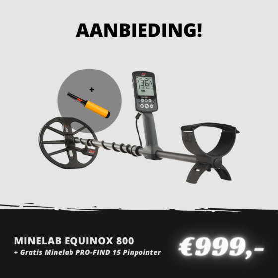 Minelab EQUINOX 800 met gratis Minelab PRO-FIND 15