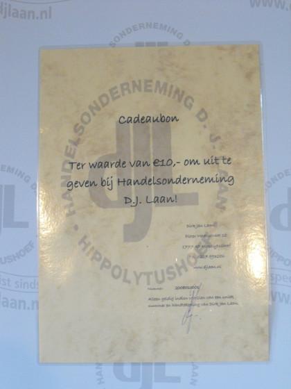 DJLaan cadeaubon t.w.v. €10,-