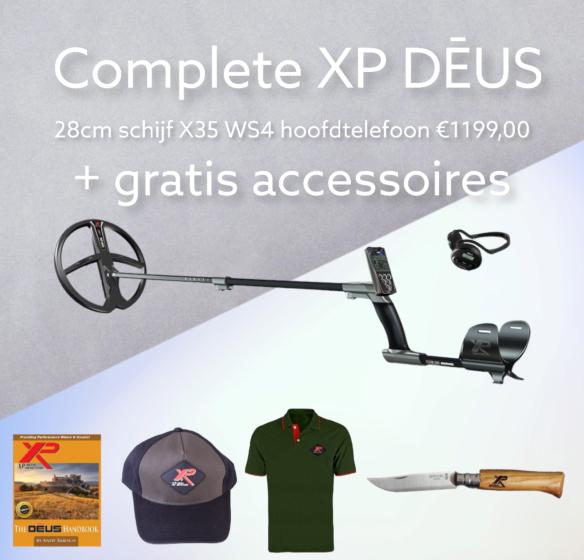 XP DĒUS X35 met 28cm schijf, bedieningsunit en WS4 hoofdtelefoon